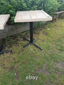 2 Heavy Duty Cafe/restaurant Commercial Grade Tables