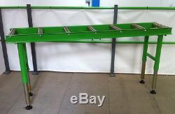 2 METRE HEAVY DUTY WORKSHOP ROLLER TABLE 7 ROLLERS EXCELLENT VALUE £225+vat