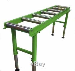 2 Metre Heavy Duty Workshop Roller Table 7 Rollers Excellent Value