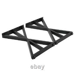 2 x Table/Bench Legs Metal Steel Industrial Dining/Bench/Office/Desk 45x71cm