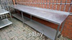 294 X 70cm Heavy Duty Welded Commercial Catering Stainless Steel Table