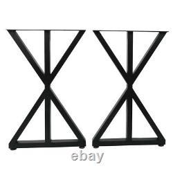 2X Industrial Frame Steel Metal Table Legs Dining Bench Office Desk Legs Support