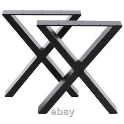 2x Industrial Metal Table Legs Heavy Duty Steel Frame Legs Bench Desk Table Base