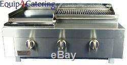 3 Burner Gas Charcoal Char Grill Bbq Heavy Duty For Commercial Use (table Top)