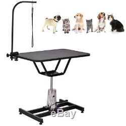 36'' Z Shape Stand Dog Pet Cat Grooming Table With Adjustable Arm Noose Hydraulic