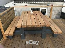 3Thick Heavy Duty Picnic Table. Beer garden Dining Table For Pubs, Restaurants