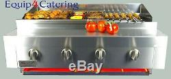 4 Burner Gas Charcoal Char Grill Bbq Heavy Duty For Commercial Use (table Top)