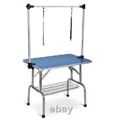 44'' BTM Pet Dog Grooming Table Non Slip Bath Steel Arm Adjustable Height 150kg