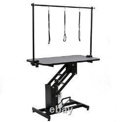 44 Large Heavy Duty Hydraulic Dog Bath Grooming Table Professional H Bar &Arm
