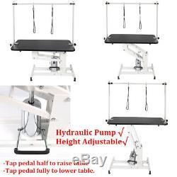 44 XL Heavy Duty(200+kg) Hydraulic Lift Dog Grooming Table Adjust H Arms Leash