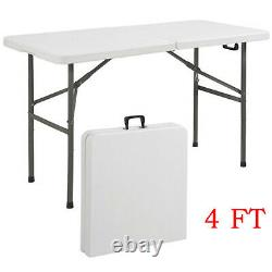 4FT Heavy Duty Folding Table Portable Camping Garden Party Catering Picnic BBQ