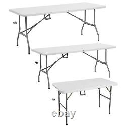 4ft 5ft & 6ft Catering Camping Heavy Duty Folding Trestle Table Picnic BBQ Party