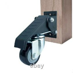 4pcs Upgrade Heavy Duty Workbench Caster Kit 400lbs Woodworking Table Wheel Set
