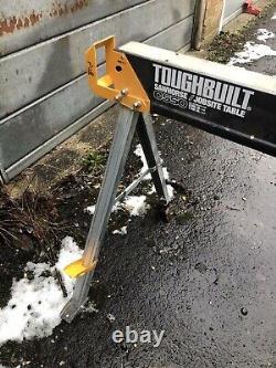 4x ToughBuilt TOU-C550 Heavy Duty Saw Horse Jobsite Trestle Table