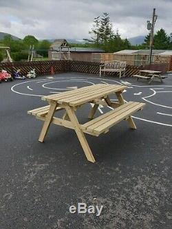 5 FT Heavy Duty Wooden Picnic Table / Pub Bench / Garden Picnic Bench