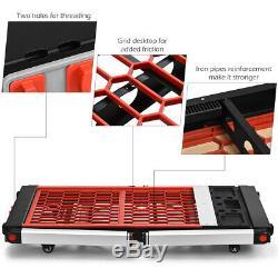 5 IN 1 Foldable Work Bench Table Platform Trolley Carpenter HandCart Heavy Duty