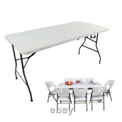 5ft Camping Catering Heavy Duty Folding Table Trestle Picnic Bbq Party
