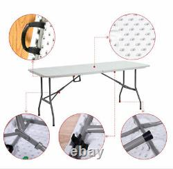 5ft Camping Catering Heavy Duty Folding Table Trestle Picnic Bbq Party Uk