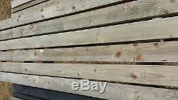 5ft Picnic Bench & Parasol Heavy Duty Wooden Garden Table