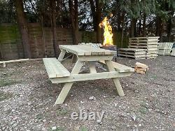 5ft picnic table/ Heavy Duty Wooden Bench