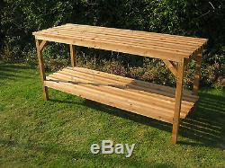 6' x 22 Greenhouse staging Wooden Heavy duty 6ft potting table