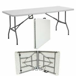 6FT Folding Table Heavy Duty Trestle Party Camping Picnic BBQ Stall Garden
