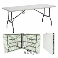 6ft Catering Camping Heavy Duty Folding Trestle Table Picnic BBQ Party