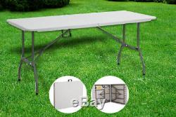 6ft Heavy Duty Folding Trestle Table Outdoor Picnic Camping Bbq Banquet Party