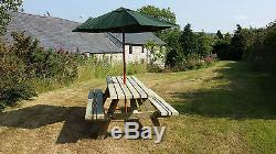 6ft Picnic Bench Heavy Duty Wide Seat Garden Table