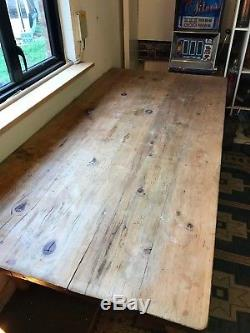7' Heavy Duty Solid Pine Farmhouse Dining / kitchen Table