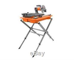 7 In. Tile Saw Stand Aluminum Steel Table Heavy Duty Powerful Power Tool Floor