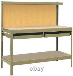 72 Workbench Pegboard Table Heavy Duty Steel Garage Shop Tool Organizer Drawer