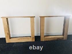 A Pair of U Shape High Quality Solid Oak Table Legs Heavy Duty 40 kg a pair