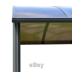 ALEKO Steel Hard Top BBQ Gazebo with Serving Tables 8 x 5 x 8 Feet Brown