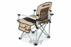ARB TOURING CAMPING CHAIR Folded Heavy Duty Padded Back & Seat, Table, Carry Bag