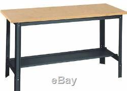 Adjustable Heavy Duty Steel Wood Work Bench Garage Home Garden Table Workshop