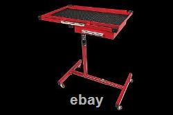 Adjustable Heavy Duty Work Table With Drawer Garage Home Shop Tray Tools Rolling