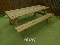 Alexander Rose Garden Furniture Heavy Duty Pine Picnic Table