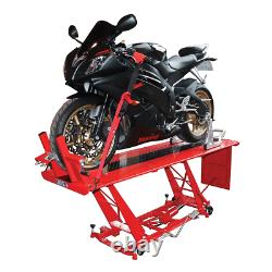 BikeTek Hydraulic Motor Bike Motorcycle Workshop Repair Table Lift Stand