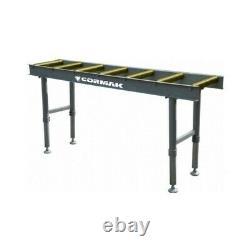 CORMAK Heavy Duty Roller Conveyor Table 2 Metre Adjustable On Legs Table Rolling