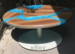 Coffee Table Solid Heavy Duty Wood Resin River Table