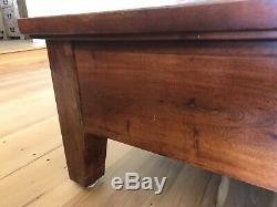 Coffee Table with drawer square, solid wood, heavy duty in mint condition