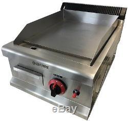 Commercial Kitchen Gas Flat Plate Table Top Griddle Heavy Duty 40cm Burger Steak