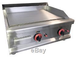 Commercial Kitchen Gas Flat Plate Table Top Griddle Heavy Duty 65cm Burger Steak