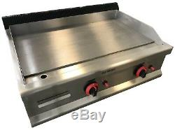 Commercial Kitchen Gas Hotplate Table Top Griddle Heavy Duty 80cm Burger Grill