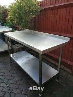 Commercial Quality heavy duty stainless steel tables worktop bench backsplash