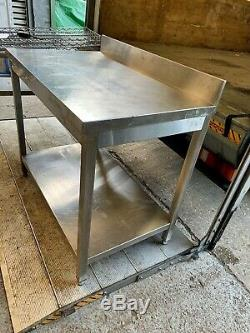 Commercial heavy duty stainless prep table bench with draw £100 + vat 100cm