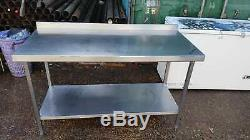 Commercial stainless steel table 150x70x90cm heavy duty work bench for catering