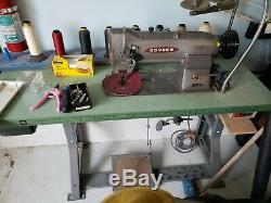 Consew 225rb-1 Heavy Duty Industrial Sewing Machine With Table