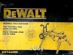 DeWALT DW7440RS Heavy Duty Rolling Job Site Table Saw Stand N